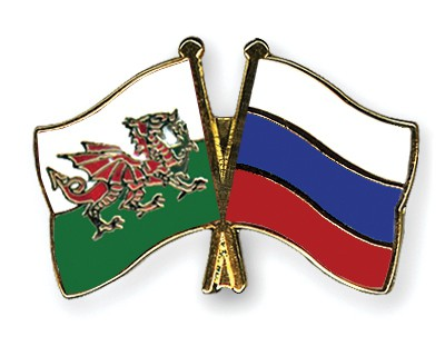 Special Offer Crossed Flag Pins Wales-Russia