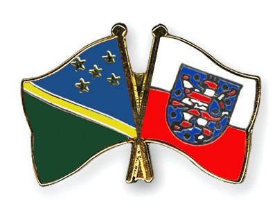 Crossed Flag Pins Solomon-Islands-Thuringia