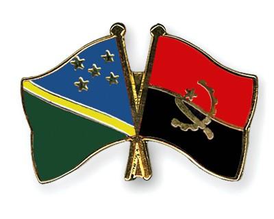 Crossed Flag Pins Solomon-Islands-Angola