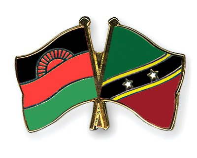 Crossed Flag Pins Malawi-Saint-Kitts-and-Nevis