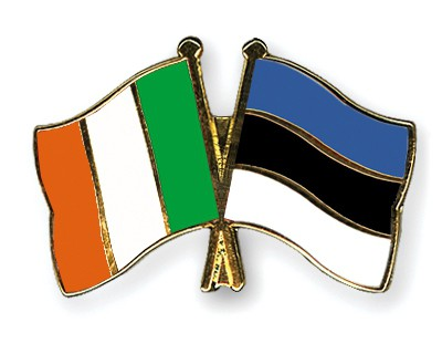 Crossed Flag Pins Ireland-Estonia