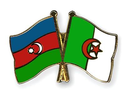 Crossed Flag Pins Azerbaijan-Algeria