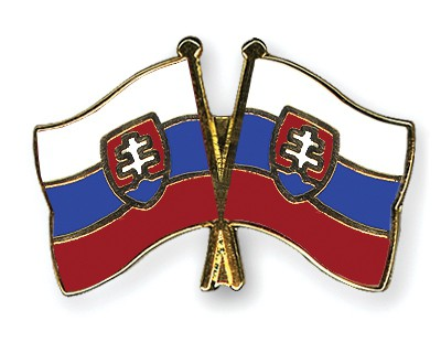 Crossed Flag Pins Slovakia-Slovakia
