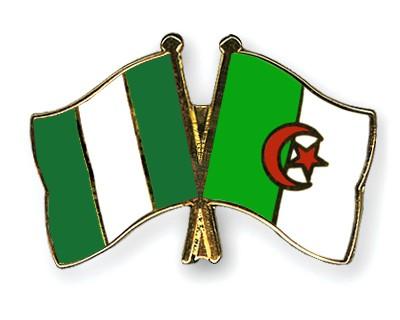 Crossed Flag Pins Nigeria-Algeria