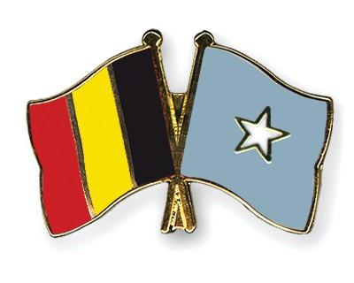 Crossed Flag Pins Belgium-Somalia