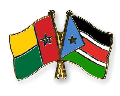 Crossed Flag Pins Guinea-Bissau-South-Sudan