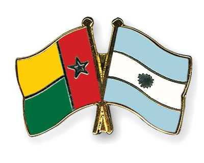 Crossed Flag Pins Guinea-Bissau-Argentina