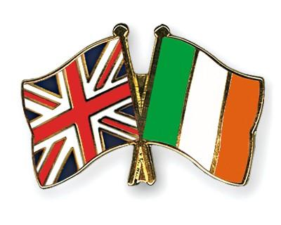 Crossed Flag Pins Great-Britain-Ireland
