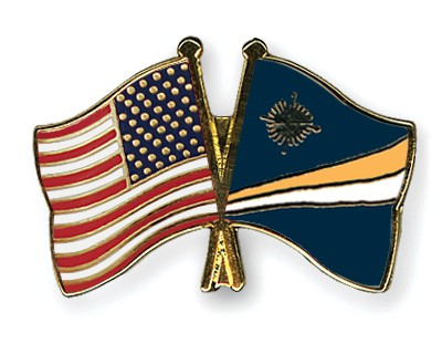 Special Offer Crossed Flag Pins USA-Marshall-Islands