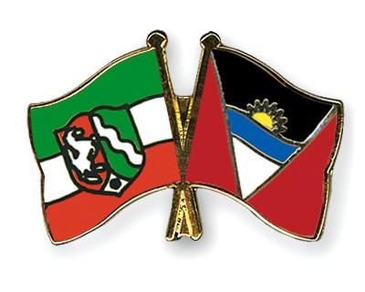 Crossed Flag Pins North-Rhine-Westphalia-Antigua-and-Barbuda