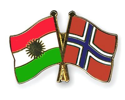 Crossed Flag Pins Kurdistan-Norway