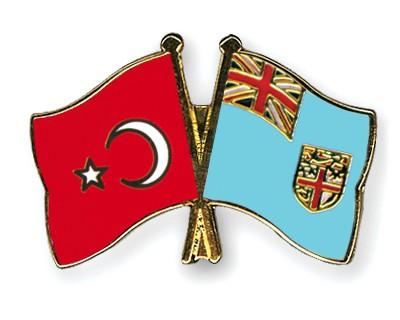 Crossed Flag Pins Turkey-Fiji