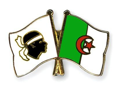 Crossed Flag Pins Corsica-Algeria