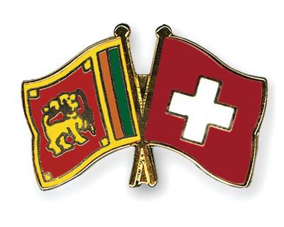 Crossed Flag Pins Sri-Lanka-Switzerland