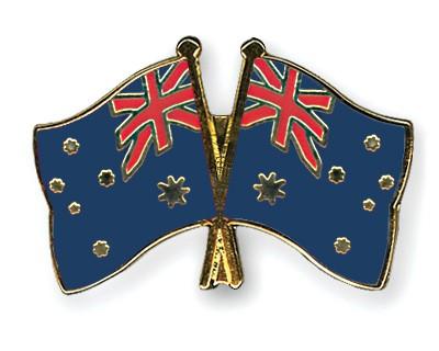 Crossed Flag Pins Australia-Australia