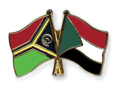 Crossed Flag Pins Vanuatu-Sudan