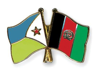 Crossed Flag Pins Djibouti-Afghanistan