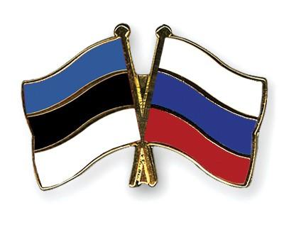 Crossed Flag Pins Estonia-Russia