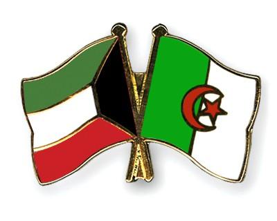 Crossed Flag Pins Kuwait-Algeria