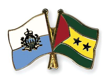 Crossed Flag Pins San-Marino-Sao-Tome-and-Principe