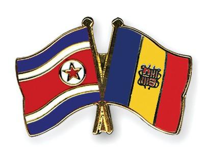 Crossed Flag Pins North-Korea-Andorra