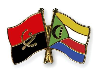 Crossed Flag Pins Angola-Comoros