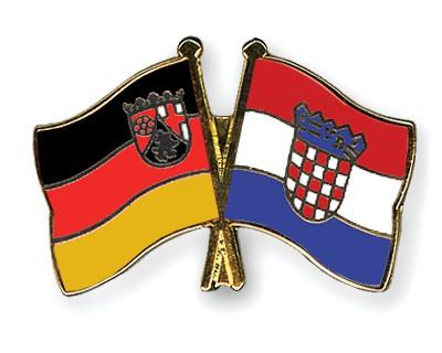 Crossed Flag Pins Rhineland-Palatinate-Croatia