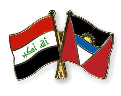Crossed Flag Pins Iraq-Antigua-and-Barbuda