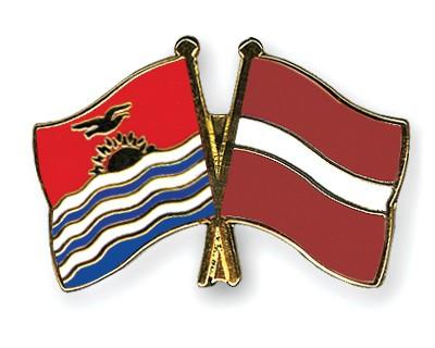 Crossed Flag Pins Kiribati-Latvia