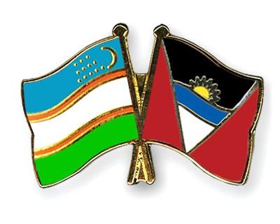 Crossed Flag Pins Uzbekistan-Antigua-and-Barbuda