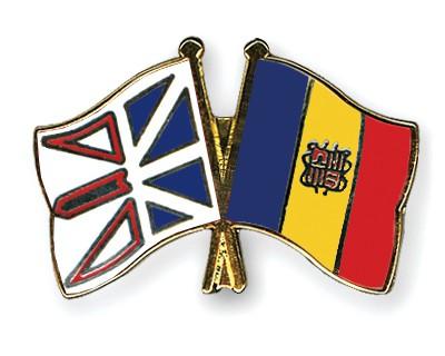 Crossed Flag Pins Newfoundland-and-Labrador-Andorra