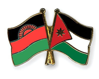 Crossed Flag Pins Malawi-Jordan