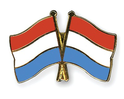 Crossed Flag Pins Luxembourg-Luxembourg