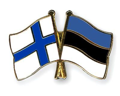 Crossed Flag Pins Finland-Estonia