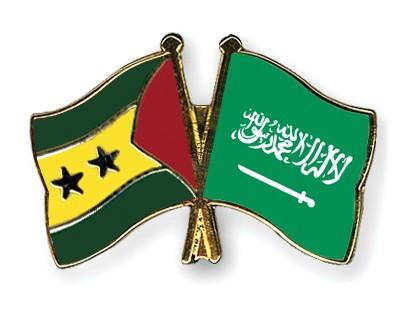 Crossed Flag Pins Sao-Tome-and-Principe-Saudi-Arabia