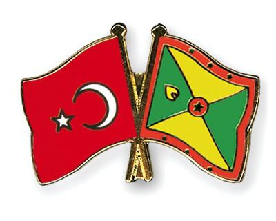 Crossed Flag Pins Turkey-Grenada