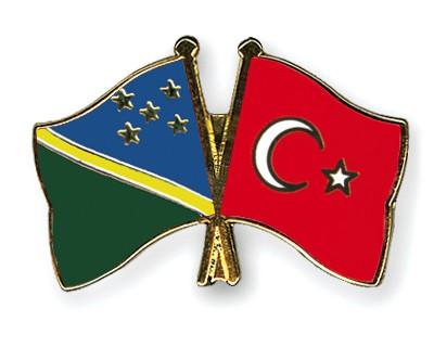 Crossed Flag Pins Solomon-Islands-Turkey