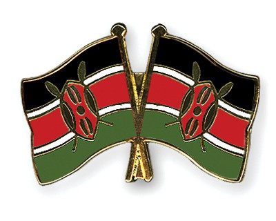 Crossed Flag Pins Kenya-Kenya