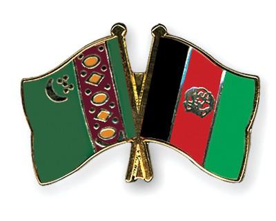 Crossed Flag Pins Turkmenistan-Afghanistan