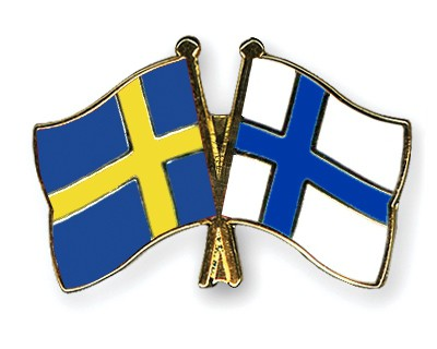 Special Offer Crossed Flag Pins Sweden-Finland