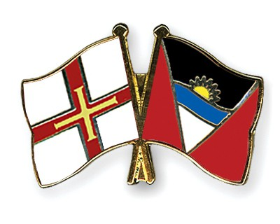 Crossed Flag Pins Guernsey-Antigua-and-Barbuda
