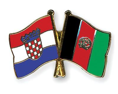 Crossed Flag Pins Croatia-Afghanistan