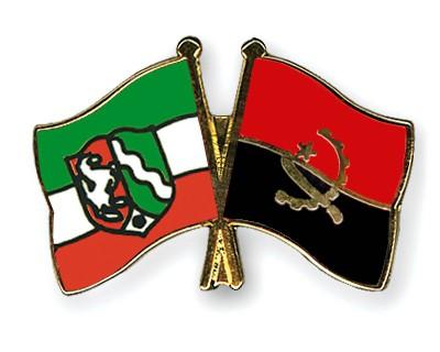 Crossed Flag Pins North-Rhine-Westphalia-Angola