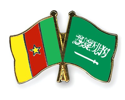 Special Offer Crossed Flag Pins Cameroon-Saudi-Arabia