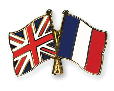 Special Offer Crossed Flag Pins Great Britain-France