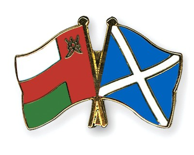 Crossed Flag Pins Oman-Scotland