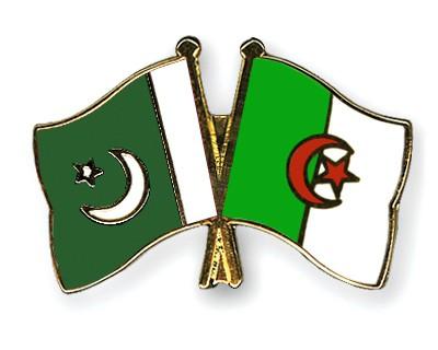 Crossed Flag Pins Pakistan-Algeria