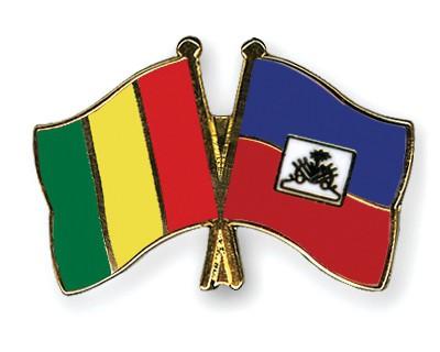 Crossed Flag Pins Guinea-Haiti