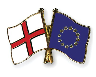 Crossed Flag Pins England-European-Union