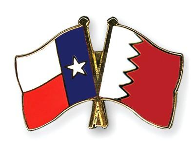 Crossed Flag Pins Texas-Bahrain